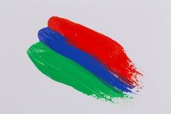 Ακρυλικά κτυπήματα βουρτσών χρωμάτων ζωηρόχρωμα Στοκ φωτογραφία με δικαίωμα ελεύθερης χρήσης