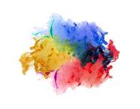 Ακρυλικά χρώματα και μελάνι στο νερό αφηρημένη ανασκόπηση Στοκ εικόνες με δικαίωμα ελεύθερης χρήσης