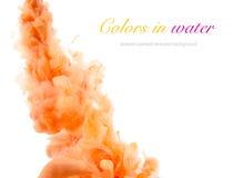 Ακρυλικά χρώματα και μελάνι στο νερό στοκ εικόνα