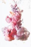 Ακρυλικά χρώματα στο νερό στοκ φωτογραφίες