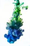 Ακρυλικά χρώματα στο νερό στοκ φωτογραφίες με δικαίωμα ελεύθερης χρήσης