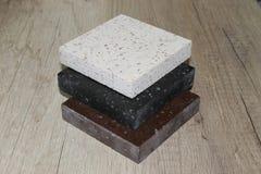 Ακρυλική τεχνητή πέτρα δειγμάτων Στοκ φωτογραφία με δικαίωμα ελεύθερης χρήσης