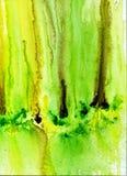 Ακρυλικό σχέδιο λωρίδων με τα κιτρινοπράσινα κύματα απεικόνιση αποθεμάτων