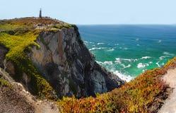 Ακρωτήριο απότομων βράχων, ατλαντική ακτή, Πορτογαλία Στοκ Φωτογραφία