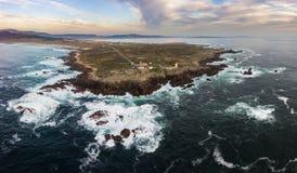 Ακρωτήριο και φάρος Corrubedo Στοκ εικόνα με δικαίωμα ελεύθερης χρήσης