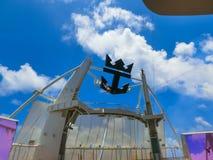Ακρωτήριο Κανάβεραλ, ΗΠΑ - 29 Απριλίου 2018: Το αμφιθέατρο θεάτρων Aqua στο σκάφος της γραμμής κρουαζιέρας ή την όαση σκαφών των  στοκ φωτογραφίες