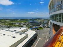 Ακρωτήριο Κανάβεραλ, ΗΠΑ Η arial άποψη του λιμένα Canaveral από το κρουαζιερόπλοιο Στοκ εικόνα με δικαίωμα ελεύθερης χρήσης
