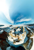Ακρωτήριο σαμάνων στο νησί Olkhon, Baikal, κεραία ψάρι-ματιών Στοκ εικόνες με δικαίωμα ελεύθερης χρήσης