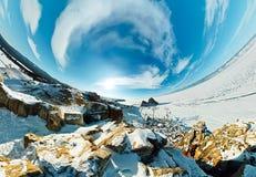 Ακρωτήριο σαμάνων στο νησί Olkhon, Baikal, κεραία ψάρι-ματιών Στοκ φωτογραφίες με δικαίωμα ελεύθερης χρήσης