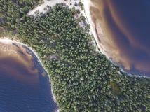 Ακρωτήριο Besov αριθ. Onega λιμνών τοπίο στοκ φωτογραφία
