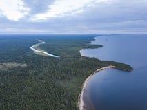 Ακρωτήριο Besov αριθ. Onega λιμνών τοπίο στοκ εικόνες με δικαίωμα ελεύθερης χρήσης