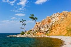 Ακρωτήριο Burhan στο νησί Olkhon Στοκ Εικόνα