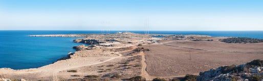 Ακρωτήριο Greco ή Cavo Greco, Agia Napa, Κύπρος Στοκ Εικόνες