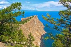 Ακρωτήριο Hoboj στο νησί Olkhon Στοκ φωτογραφίες με δικαίωμα ελεύθερης χρήσης