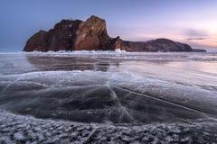 Ακρωτήριο Khoboy του νησιού Olkhon, λίμνη Baikal, Ρωσία στοκ φωτογραφία