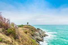Ακρωτήριο Phromthep - σημείο άποψης θάλασσας σε Phuket, Ταϊλάνδη Στοκ εικόνες με δικαίωμα ελεύθερης χρήσης