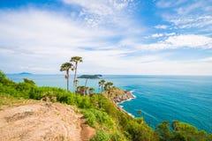 Ακρωτήριο Phromthep Το ορόσημο Phuket, Ταϊλάνδη Στοκ Εικόνα