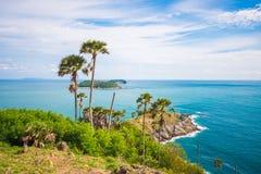 Ακρωτήριο Phromthep Το ορόσημο Phuket, Ταϊλάνδη Στοκ Εικόνες