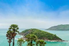 Ακρωτήριο Phromthep, όμορφη άποψη θάλασσας Andaman στο νησί Phuket, Ταϊλάνδη Στοκ εικόνες με δικαίωμα ελεύθερης χρήσης