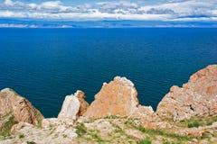 Ακρωτήριο sagan-Hushun στο νησί Olkhon Στοκ φωτογραφία με δικαίωμα ελεύθερης χρήσης