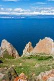 Ακρωτήριο sagan-Hushun στο νησί Olkhon Στοκ εικόνα με δικαίωμα ελεύθερης χρήσης