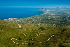 Ακρωτήριο SAN Vito και κόλπος Cafano, Σικελία Στοκ Εικόνες