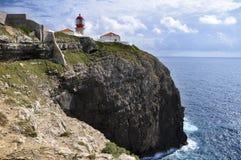 Ακρωτήριο ST Vicent, Αλγκάρβε: η τελευταία στάση. Στοκ εικόνα με δικαίωμα ελεύθερης χρήσης