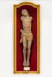 Ακρωτηριασμένο άγαλμα του Ιησού κατά τη διάρκεια της μάχης WWI Verdun Στοκ εικόνες με δικαίωμα ελεύθερης χρήσης