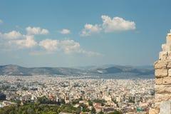 ακρόπολη Αθήνα Όμορφη άποψη στην Αθήνα Άποψη από τον υψηλό λόφο στοκ φωτογραφία