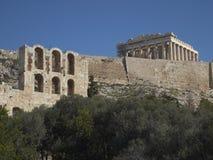 ακρόπολη Αθήνα parthenon Στοκ Εικόνα