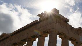 Ακρόπολη της Αθήνας HD απόθεμα βίντεο