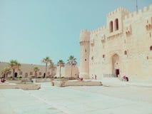Ακρόπολη Qaitbay, Αλεξάνδρεια, Αίγυπτος στοκ εικόνες με δικαίωμα ελεύθερης χρήσης