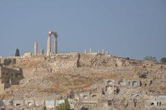Ακρόπολη & ναός Hercules, Αμμάν Στοκ φωτογραφία με δικαίωμα ελεύθερης χρήσης