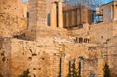 Ακρόπολη της Αθήνας την 1η Αυγούστου 2013. Άποψη από το λόφο Areopagus. Στοκ Φωτογραφίες