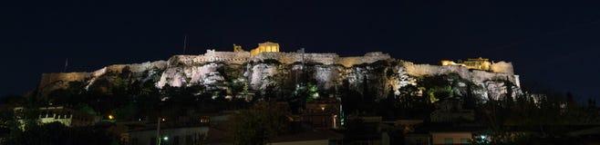 Ακρόπολη της Αθήνας τη νύχτα Στοκ Εικόνες