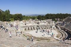 Ακρόπολη της Περγάμου Τουρκία Οι καταστροφές του ναού Trajan Στοκ Φωτογραφία