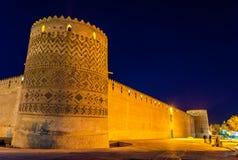 Ακρόπολη του Karim Khan τη νύχτα στη Shiraz, Ιράν Στοκ Φωτογραφίες