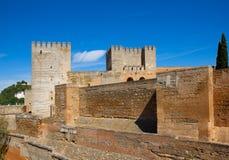 Ακρόπολη Alhambra, Γρανάδα, Ισπανία Στοκ εικόνα με δικαίωμα ελεύθερης χρήσης