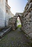 Ακρόπολη Civitavecchia Di Arpino, Ιταλία Στοκ εικόνες με δικαίωμα ελεύθερης χρήσης