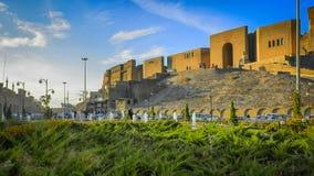 Ακρόπολη Erbil σε στο κέντρο της πόλης Erbil - Hawler Στοκ Φωτογραφίες
