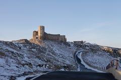 Ακρόπολη Histria σε Μαύρη Θάλασσα το χειμώνα στοκ εικόνα με δικαίωμα ελεύθερης χρήσης