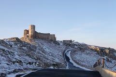 Ακρόπολη Histria σε Μαύρη Θάλασσα το χειμώνα στοκ φωτογραφία
