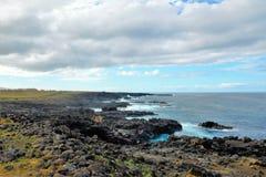 Ακτές γύρω από το νησί Πάσχας στοκ εικόνες