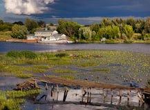 Ακτές Kostroma Ρωσία στοκ φωτογραφία με δικαίωμα ελεύθερης χρήσης