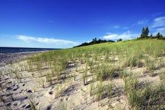 ακτή άμμου του Μίτσιγκαν λιμνών αμμόλοφων Στοκ φωτογραφία με δικαίωμα ελεύθερης χρήσης