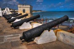 Ακτή ακρωτηρίων Castle - Γκάνα Στοκ Φωτογραφίες
