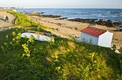 Ακτή αμμόλοφων στο Βορρά του νησιού Yeu Στοκ Φωτογραφίες