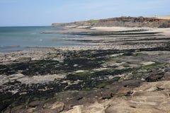 Ακτή απότομων βράχων κοντά στην ΚΑΠ Griz Nez Στοκ Εικόνες