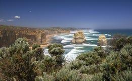 Ακτή απότομων βράχων στη νότια Αυστραλία Στοκ Εικόνες