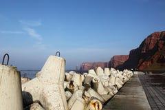 ακτή απότομων βράχων helgoland Στοκ Εικόνες